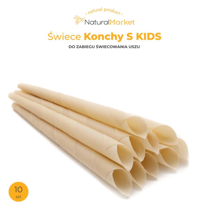 Świece Konchy S - Kids - 22 cm. / 10 szt. 1