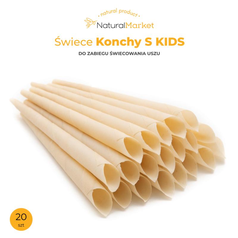 Świece Konchy S - Kids - 22 cm. / 20 szt. 1