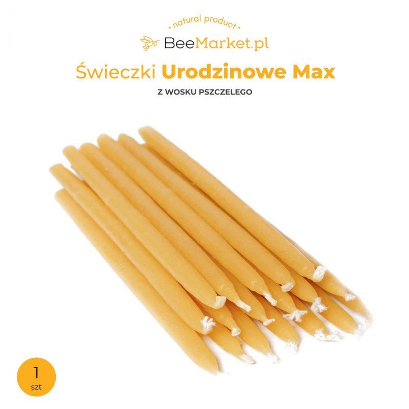 Świeczki urodzinowe Max z wosku pszczelego 1